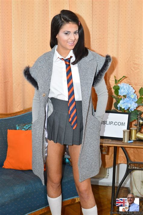 Naughty Schoolgirl Coco Takes Off Her Panties And Touches