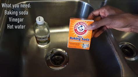 unclog  kitchen sink  baking soda
