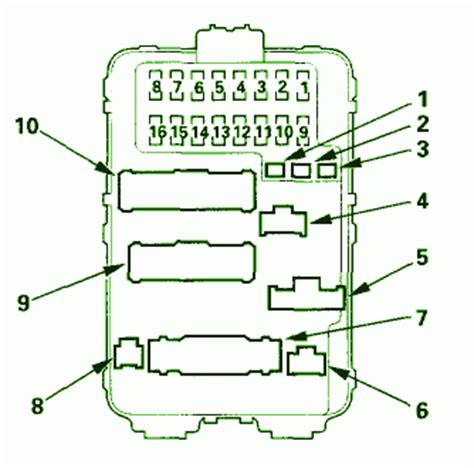 2005 Acura Tl Relay Box Diagram by 2001 Acura Tl S Series Fuse Box Diagram Circuit Wiring