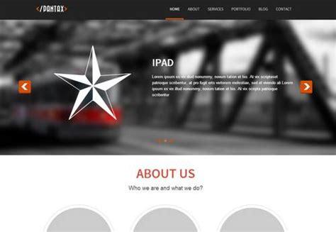 parallax template 60 free and premium html css portfolio templates xdesigns