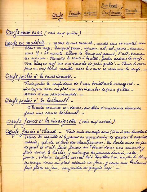 cahier de recette de cuisine à la recherche des cahiers de cuisine familiaux ocpopocpop