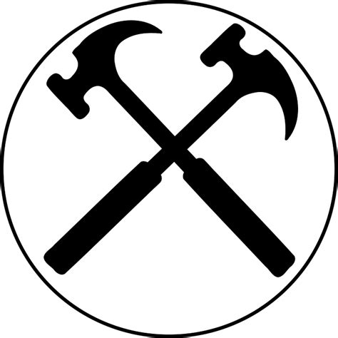 free vector graphic crossed hammers tools hammer free