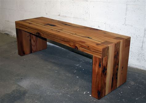using a bench as a coffee table hand made reclaimed cedar box joint bench coffee table by