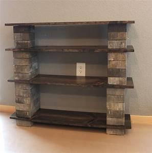 Diy, Concrete, Block, Bookshelf