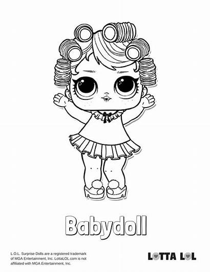 Lol Coloring Pages Doll Babydoll Surprise Lotta
