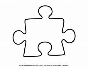 blank puzzle piece template free single puzzle piece With giant puzzle template