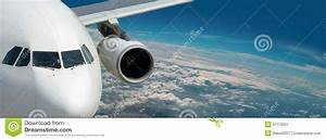 Dream Liner Of Bright Travel Panorama Above Earth Stock