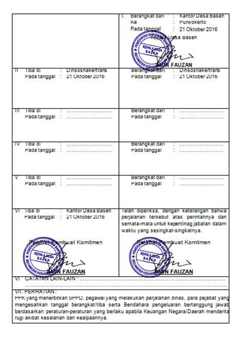 contoh surat perintah perjalanan dinas sppd