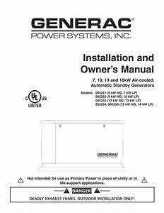 Installation And Owner S Manual