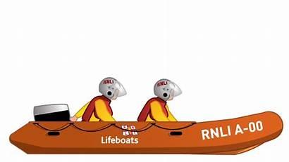 Rescue Boat Inshore Lifeboat Rnli Illustration Fleet