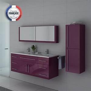 Meuble Vasque Double : meuble de salle de bain aubergine dis749 meuble de salle de bain couleur aubergine ~ Teatrodelosmanantiales.com Idées de Décoration