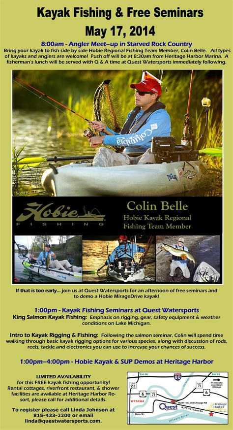 Quest Boat Club Road by Quest Kayak Fishing Free Seminars May 17