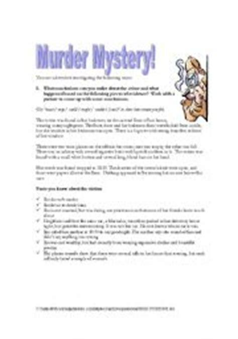 english teaching worksheets murder