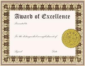 Free Certificate Template Awards Certificate Templates Certificate Templates