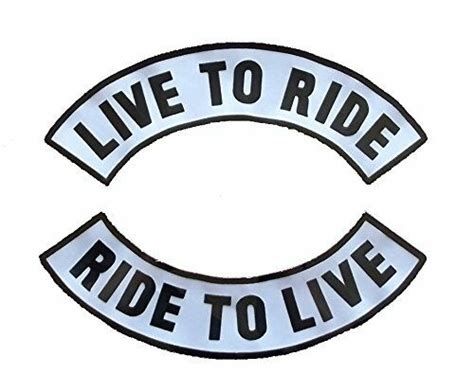 Live To Ride Large Rocker Back Patch Motorcycle Biker 2