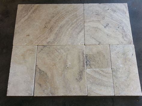 Alaska Travertine French Pattern Travertine Pavers