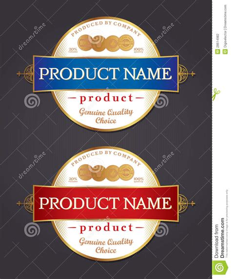 label design template vector stock vector image