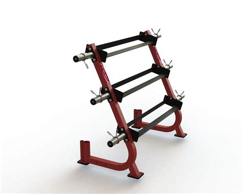 dumbell rack  tiers  weight plate storage pins  olympic bar storage trojan fitness