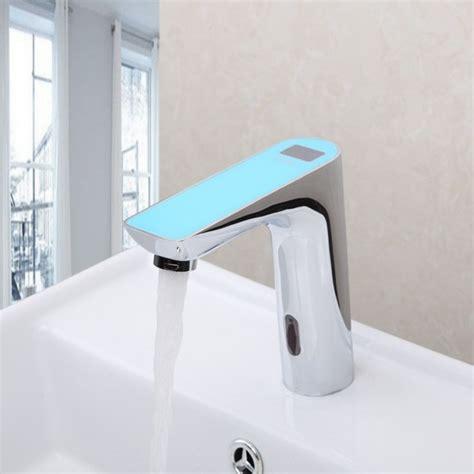 digital display electronic motion sensor bathroom faucet
