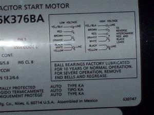 My Problem Is That I Have A Dayton Motor  6k376ba And A
