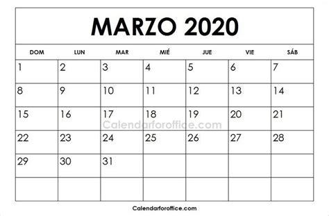 foto de Calendario 2020 Marzo Para Imprimir 2019 calendar 2021