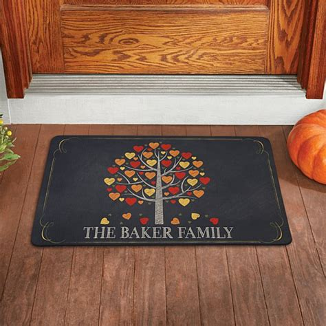 personalized family doormats personalized doormats welcome mats personal creations