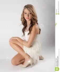 Pretty Teen Girls Dress Heels
