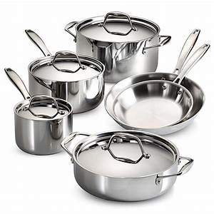 Tramontina Gourmet Tri-Ply Clad 10-Piece Stainless Steel