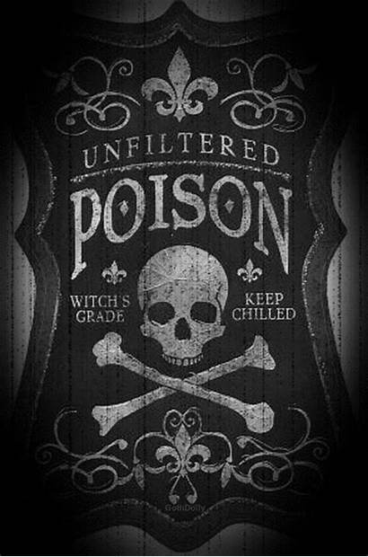 Poison Signs Animated Retro Bottle Label Sign