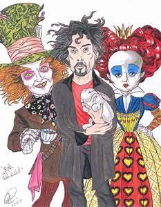 Burton in Wonderland by DemonCartoonist on DeviantArt