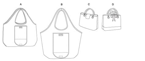 Butterick 5507- Shopping And Lunch Bags