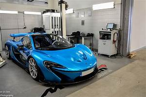 Baby Blue McLaren P1 Photoshoot in Geneva