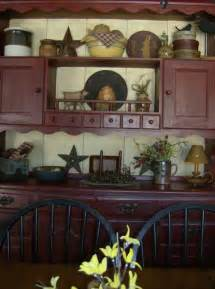 Primitive Decor Kitchen Cabinets by Bonnie Painted A Hutch That Was Given To By