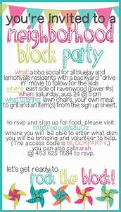 how to throw a block party printable invitation template With block party template flyers free