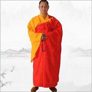 buddhist monk high quality satin robes shaolin kongfu With robe moine bouddhiste