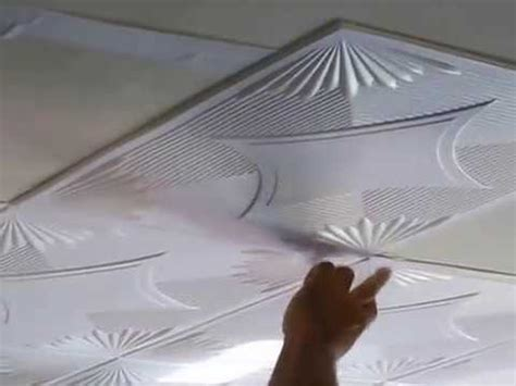 installation styrofoam ceiling tile glue existing
