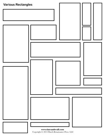 rectangle templates  tims printables