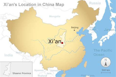 xian map xian tourism map  terracotta army route map