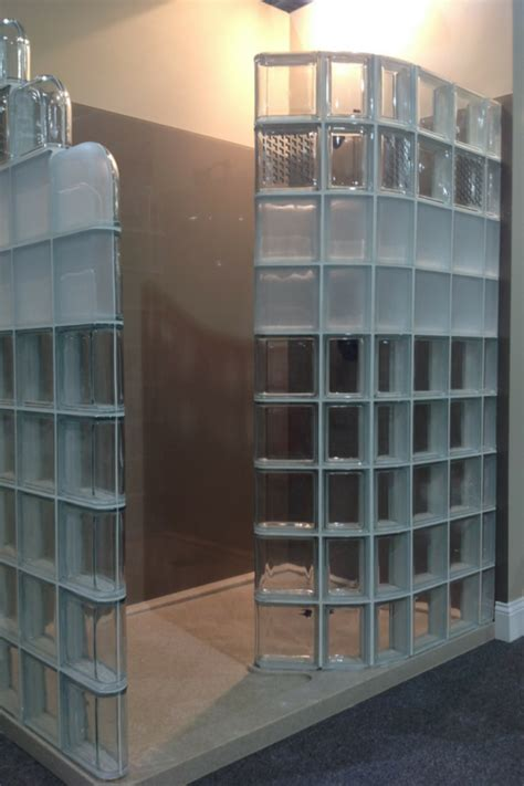 Glass Block Designs For Bathrooms by Modern Glass Block Shower System Introduced At Columbus