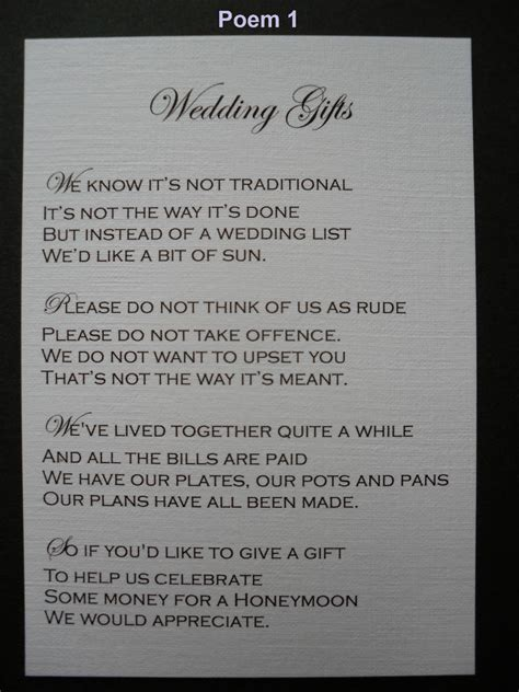 wedding poems  gifts