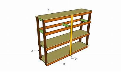 Garage Plans Shelving Shelves Wood Diy Wooden