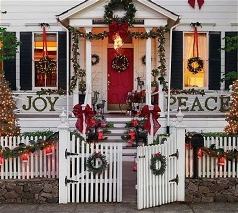 outdoor christmas decor pottery barn for the home
