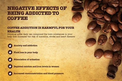 Excessive coffee consumption can have very negative effects on our health in the long run
