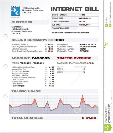 phone bill template fake  cell  mobile sample att
