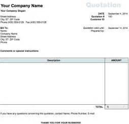 Estimate Sheet Templates Free Sales Quotation Xls 1 Page S