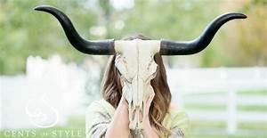 """27 5"""" Home Decor Longhorn Skull Jane"""