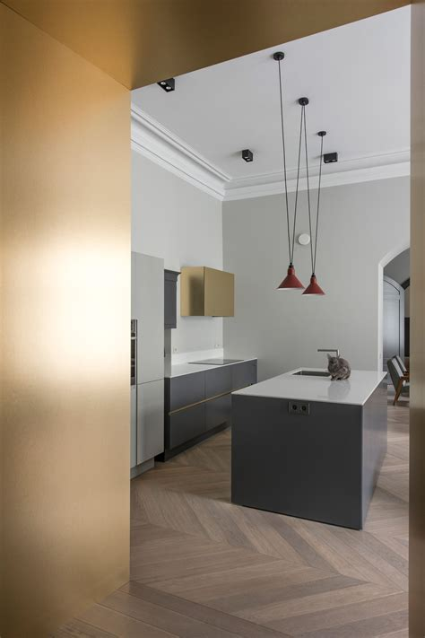Amazing Kitchen Design With Touches Of Gold by To Provide Touches Of Colour The Designer Has Applied
