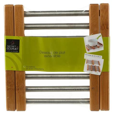 dessous de plat extensible bambou inox
