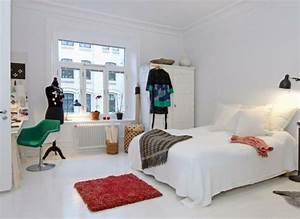 1001 idees pour une chambre scandinave stylee With tapis oriental avec canapé lit cocktail scandinave