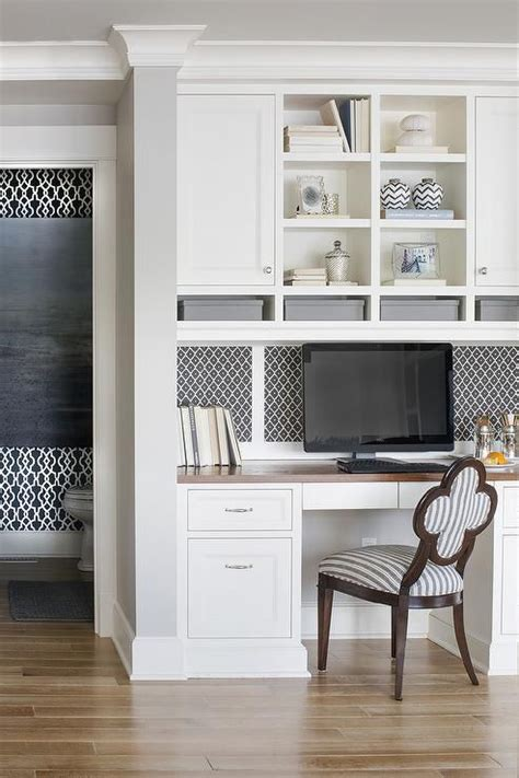 Ikea Kitchen Desk Area by Lovely Kitchen Features A Built In Desk With Wood Top
